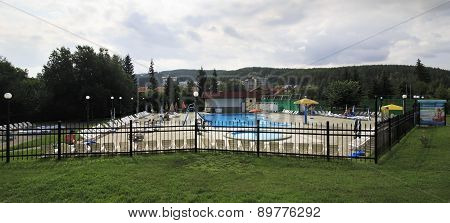 Outdoor pool in the Sanatorium Belokuriha