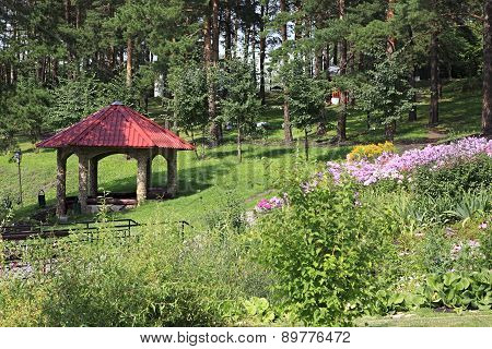 Gazebo in the Sanatorium Russia