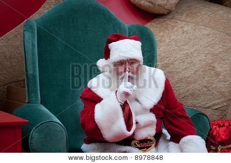 Santa Shh Closeup