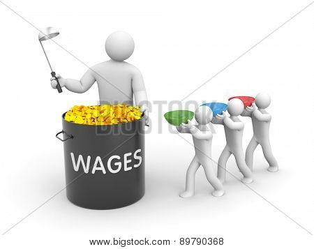 The distribution of wages poster