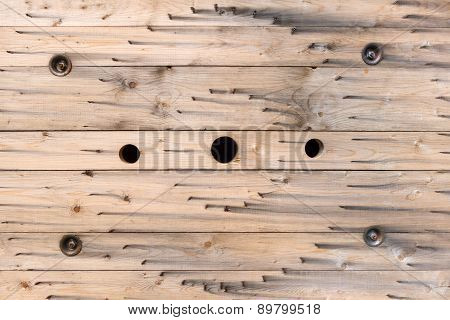 Pattern in the wood of a cable reel