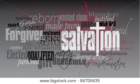Salvation Christian word montage