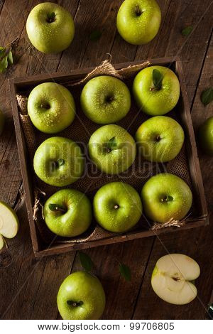 Organic Green Granny Smith Apple Ready to Eat poster