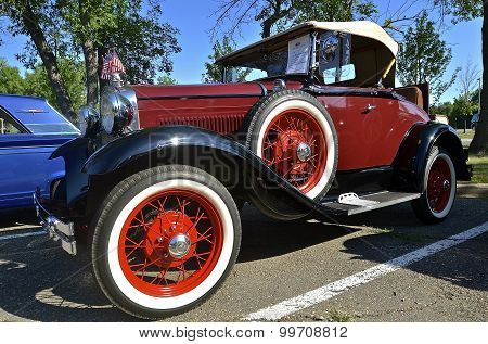 1930 restored classic Ford car