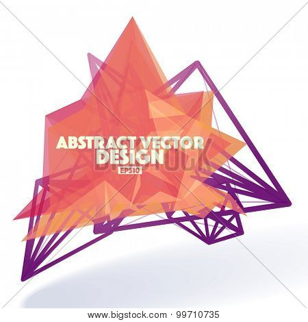 Abstract Vector Design Element with Lines Structure