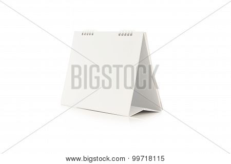 Blank Calendar isolated on a  white background