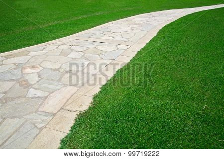 Footpath on grass
