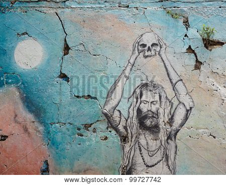 Graffiti On The Ghats Of Varanasi