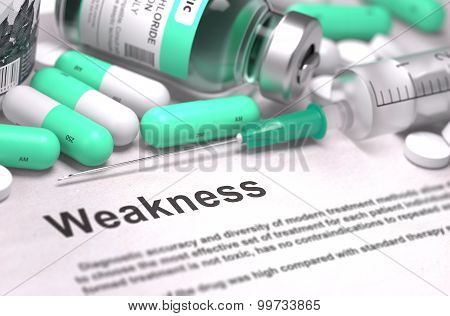 Weakness - Medical Concept.