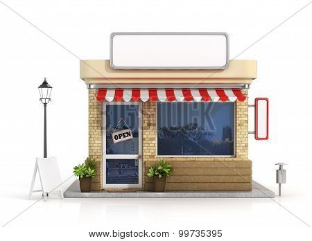 Concept Of Shop. Store With Copy Space Board.