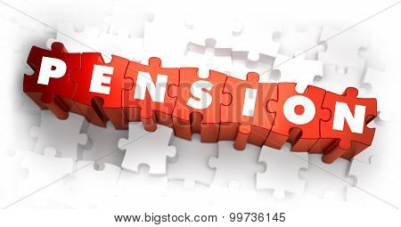 Pension - White Word on Red Puzzles.