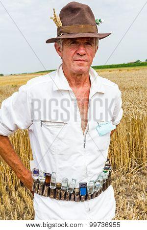 Portrait Of A Senior Farmer.