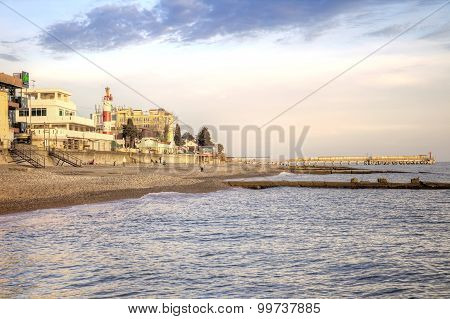 Black Sea Coast. Evening