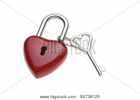 Tiny Heart-shaped Lock, Padlock, As Love Lock With Keys With Heart-shaped Handle