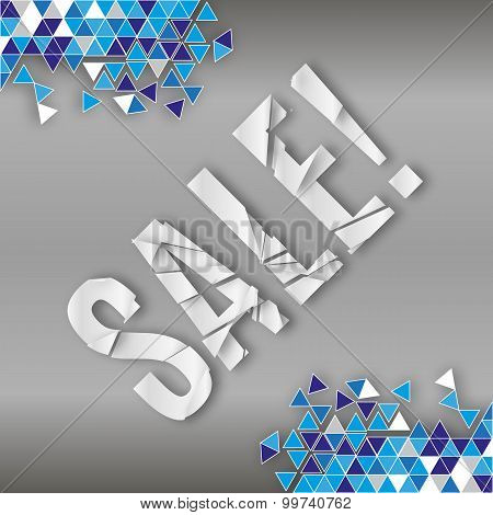 Abstract Background Broken Mozaic With Sale Label