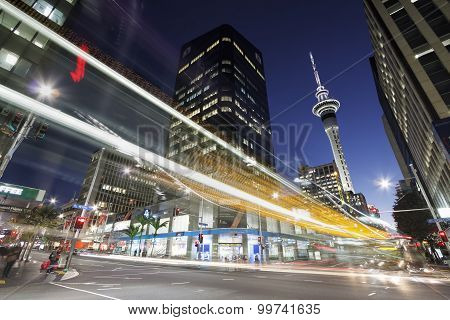 Auckland downtown at night