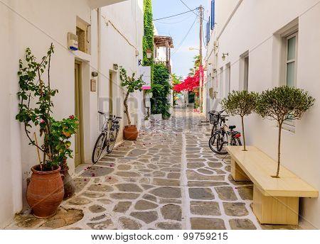 The Old Town Of Parikia