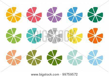 Lime or lemon fruit drink logo icon template design
