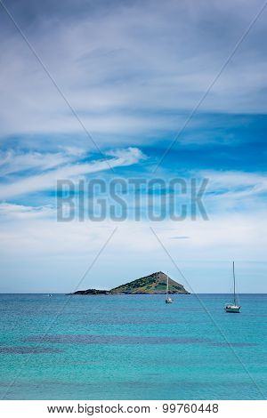 Deserted island and Boats