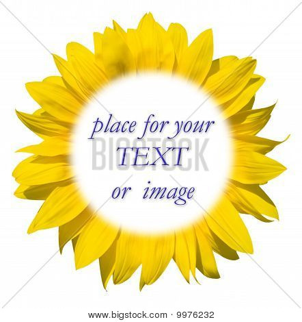 Sunflower Frame For Your Text