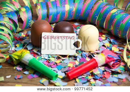 Geburtstag - the german words for birthday