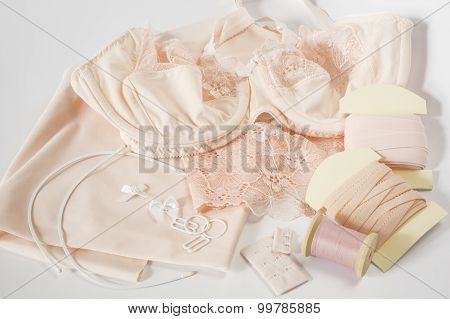 A ready bra and bra sewing accessories