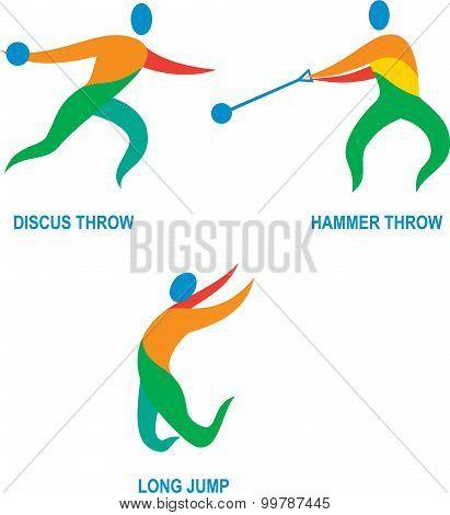 Hammer Throw Discus Throw Long Jump Icon