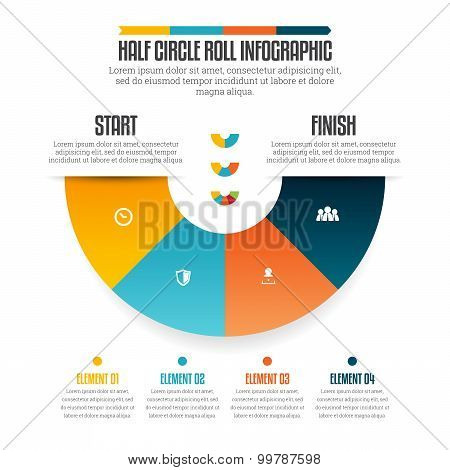 Half Circle Roll Infographic