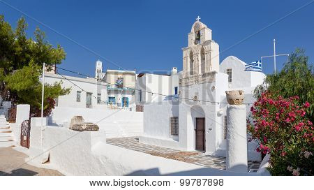 Agia Triada church in Adamantas, Milos island, Greece