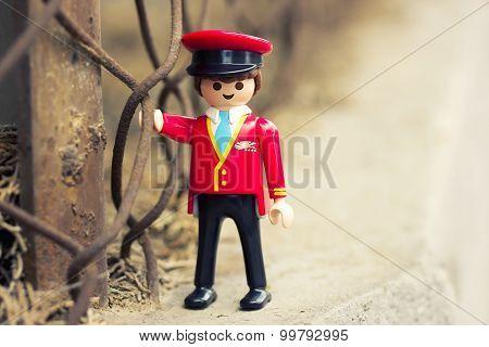 Miniature plastic toy