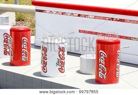 Mini Israel, Israel - April 15, 2015: Miniature Coca Cola Factory in Mini Israel on April 15, 2015 poster