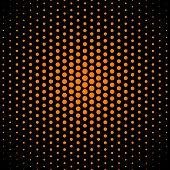 Amber (SAE-ECE) techno dot on black background for design poster