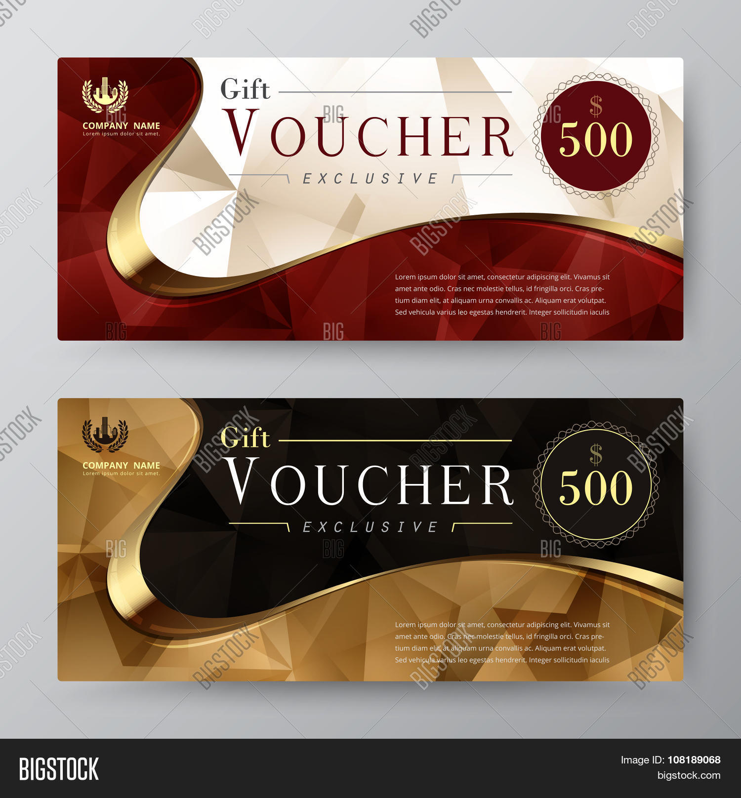 Luxury Gift Voucher Template. Vector & Photo | Bigstock