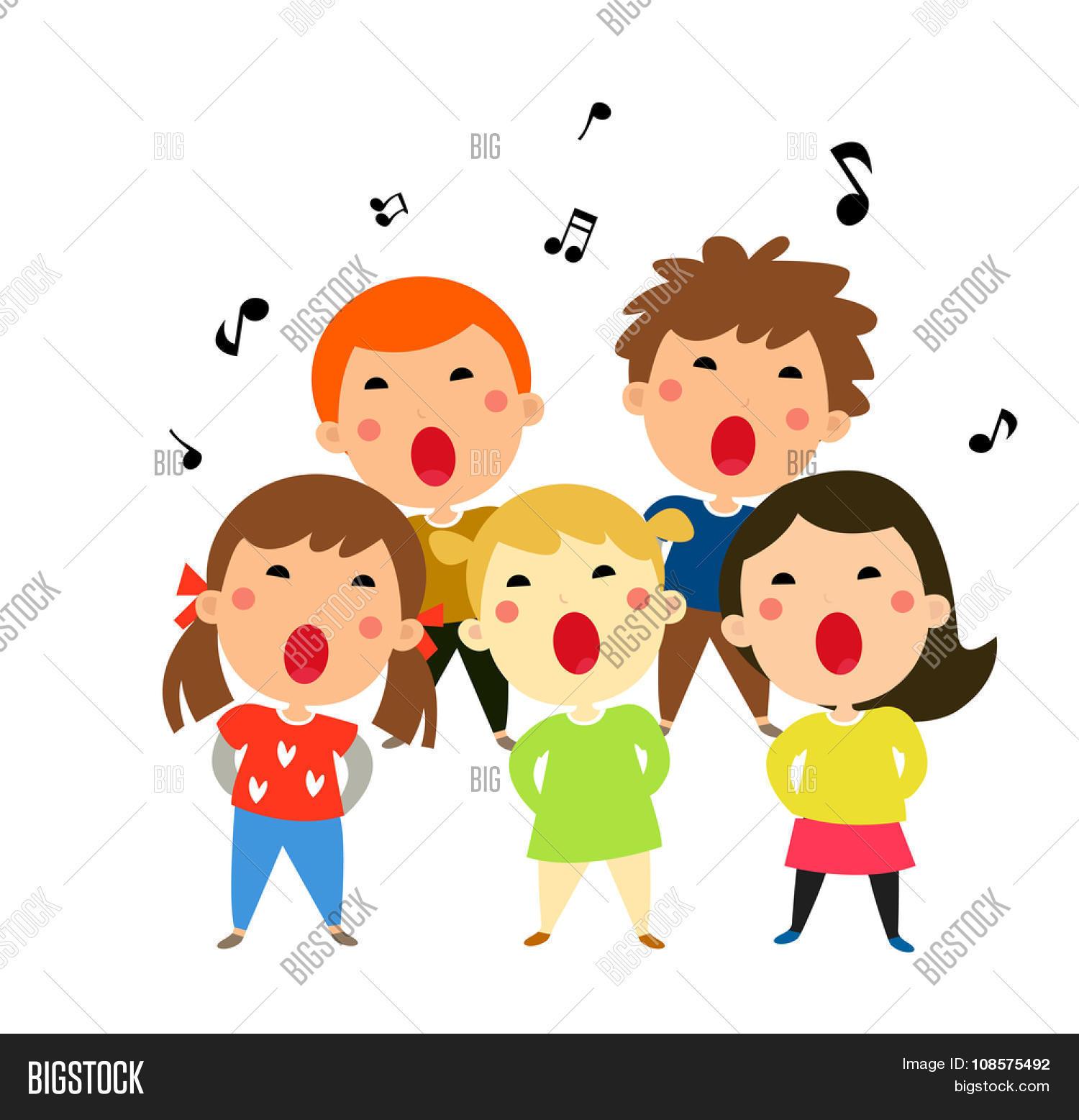 Children Singing Vector & Photo (Free Trial) | Bigstock