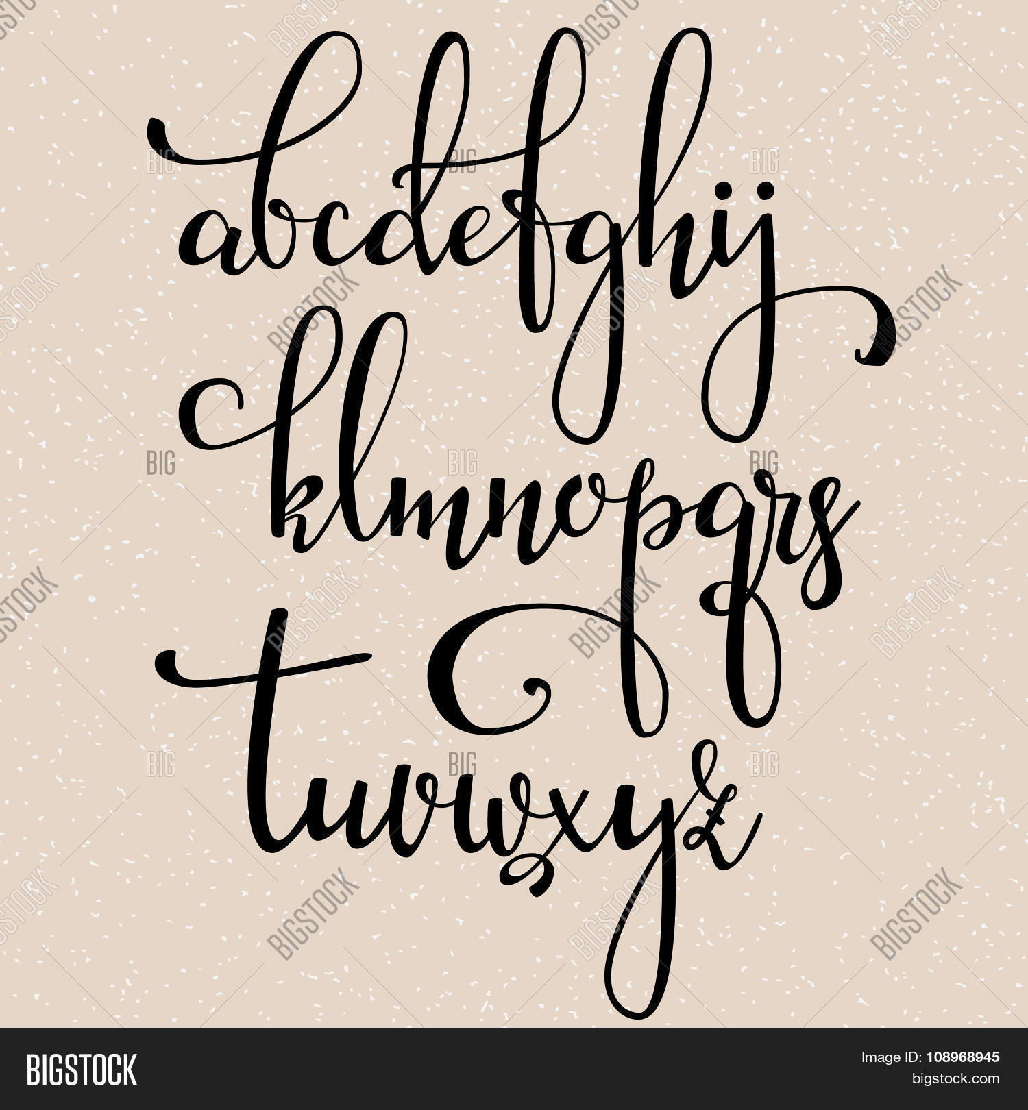 Handwritten brush style vector photo bigstock