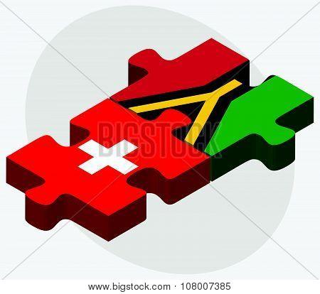 Switzerland And Vanuatu Flags