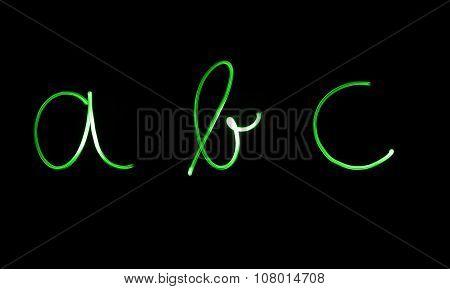 Flourescent letters
