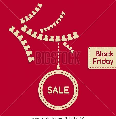 Sale banner, template for Black Friday