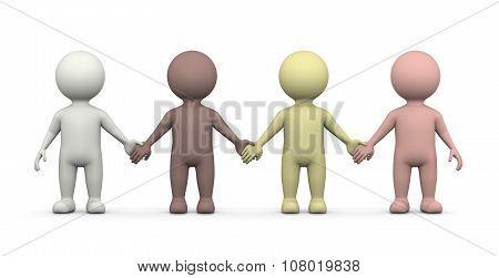 Human Races Together, Equality Concept