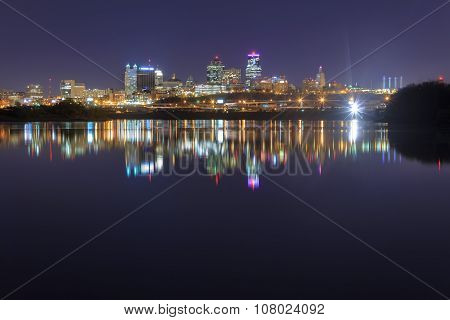 A Cityscape Of Kansas City, Missouri