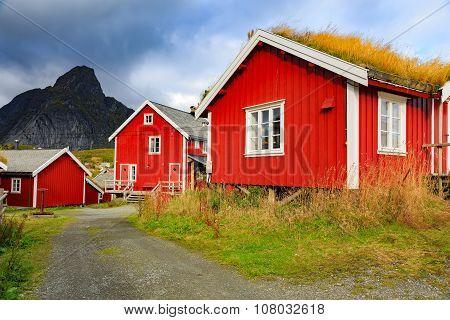 Fishing village in Lofoten Islands, Norway