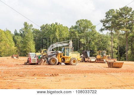 Road Grading Equipment On Site