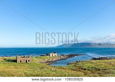 Ruins On The Coast Of Rathlin Island, Northern Ireland