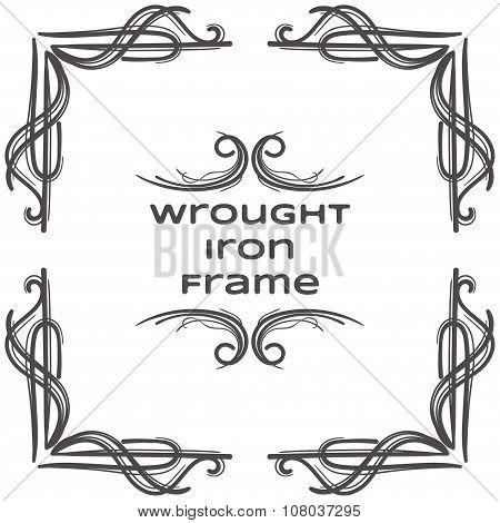 Wrought Iron Frame Nine