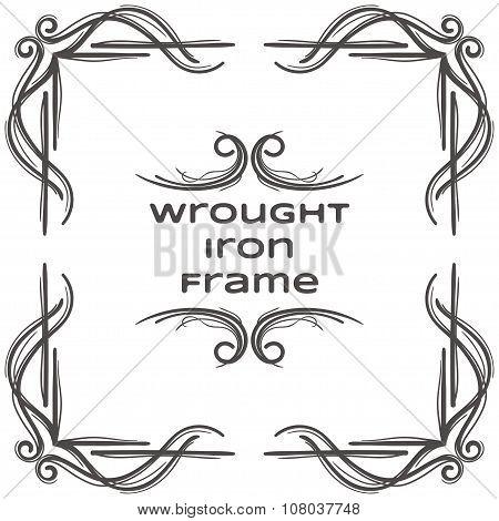 Wrought Iron Frame Eight