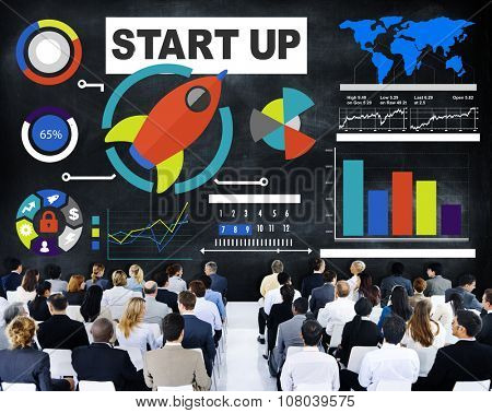 Corporate Business People Seminar Start Up Conference Concept poster