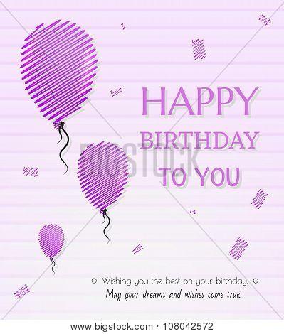 Balloon And Happy Birthday