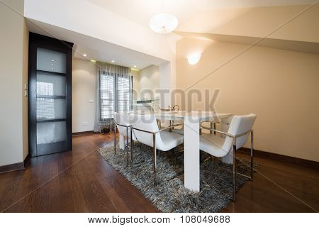 Interior Of A Specious Dining Room