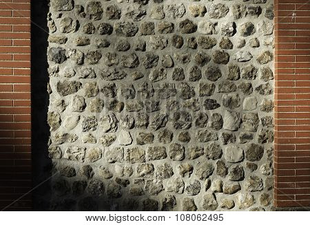 Patter Of A Rustic Facade
