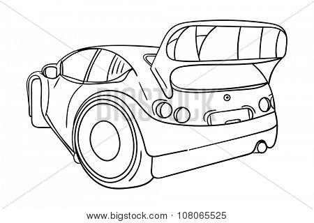 vector - sport car - isolated on background